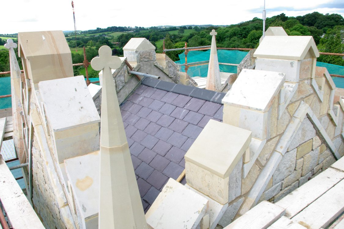After Roof Stone Cleaned